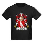 Pariseau Family Crest Kids Dark T-Shirt