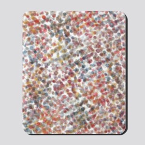 Decorative Abstract Blots in Muted Color Mousepad