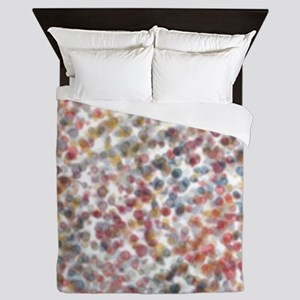 Decorative Abstract Blots in Muted Col Queen Duvet