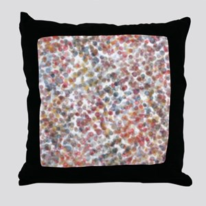 Decorative Abstract Blots in Muted Co Throw Pillow