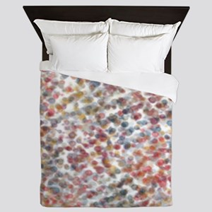 Decorative Abstract in Muted Color Blo Queen Duvet