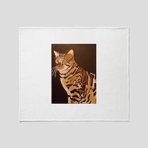Bengal Kitty Throw Blanket