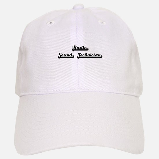 Radio Sound Technician Artistic Job Design Baseball Baseball Cap