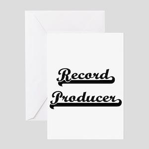Record Producer Artistic Job Design Greeting Cards