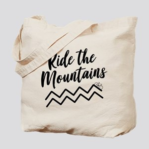 Ride The Mountains Tote Bag