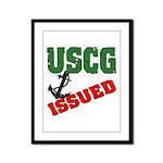 USCG Issued  Framed Panel Print