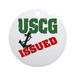 USCG Issued Ornament (Round)