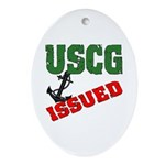 USCG Issued Oval Ornament
