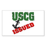 USCG Issued Rectangle Sticker