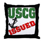 USCG Issued  Throw Pillow