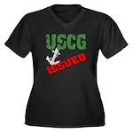 USCG Issued Women's Plus Size V-Neck Dark T-Shirt