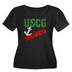 USCG Issued Women's Plus Size Scoop Neck Dark T-S