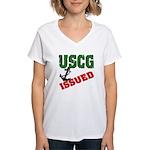 USCG Issued Women's V-Neck T-Shirt