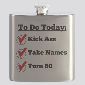 Kick Ass Take Names Turn 60 Flask