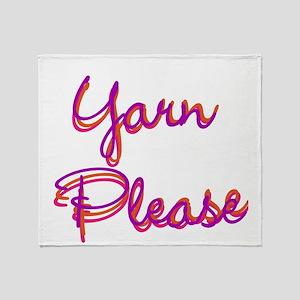 Yarn Please Throw Blanket