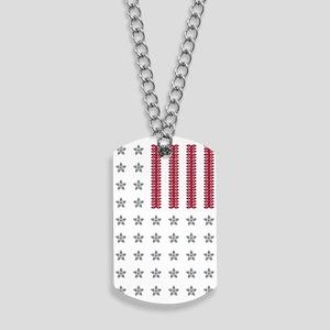 Diamond Stars and Ruby Stripes Flag Dog Tags