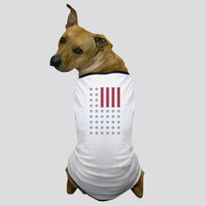 Diamond Stars and Ruby Stripes Flag Dog T-Shirt