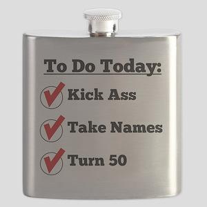 Kick Ass Take Names Turn 50 Flask