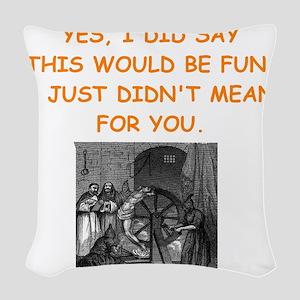 dungeon master Woven Throw Pillow