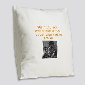 dungeon master Burlap Throw Pillow
