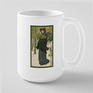 Woman with Holly Large Mug