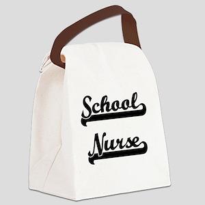 School Nurse Artistic Job Design Canvas Lunch Bag