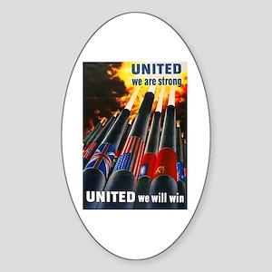 United We Win Oval Sticker