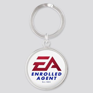 EA Round Keychain