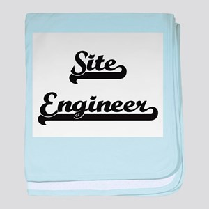 Site Engineer Artistic Job Design baby blanket