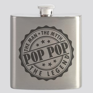 Pop Pop - The Man, The Myth, The Legend Flask