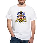 Olive Family Crest White T-Shirt
