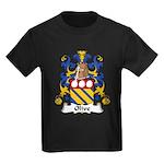 Olive Family Crest Kids Dark T-Shirt