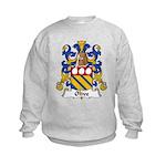 Olive Family Crest Kids Sweatshirt