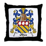 Olive Family Crest Throw Pillow