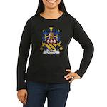 Olive Family Crest Women's Long Sleeve Dark T-Shir