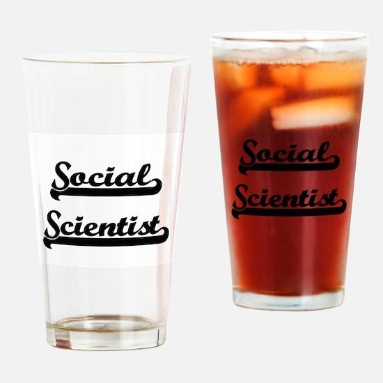 Social Scientist Artistic Job Desig Drinking Glass