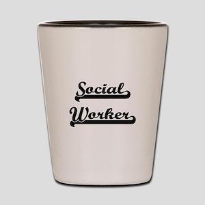 Social Worker Artistic Job Design Shot Glass