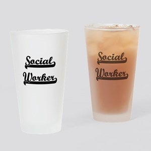 Social Worker Artistic Job Design Drinking Glass
