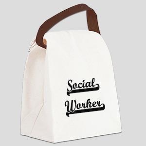 Social Worker Artistic Job Design Canvas Lunch Bag