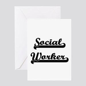 Social Worker Artistic Job Design Greeting Cards
