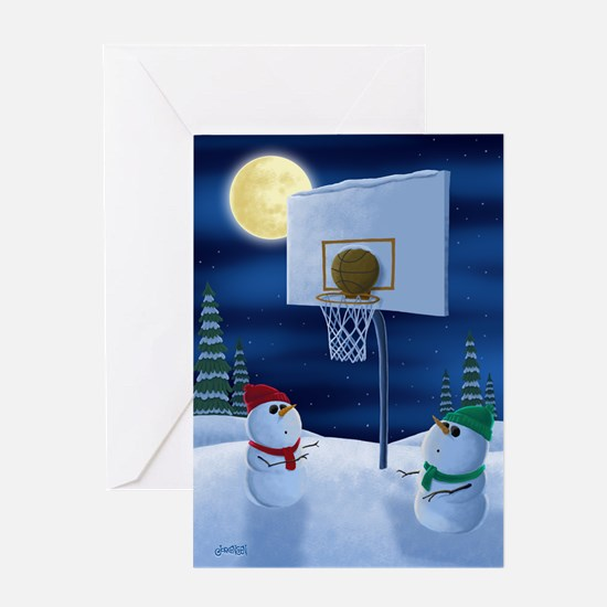 Holiday Basketball Greeting Cards (single)