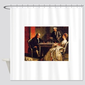 chess in art Shower Curtain