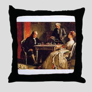 chess in art Throw Pillow