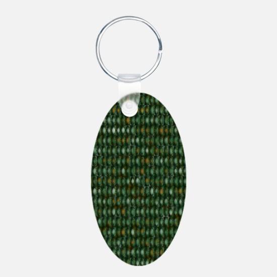 Green Weave Keychains