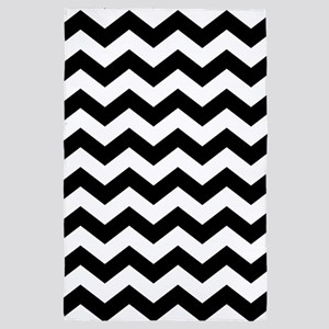 Black White Chevron 4' x 6' Rug
