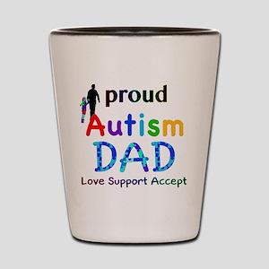 Proud Autism Dad Shot Glass