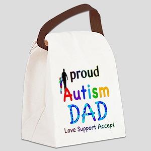 Proud Autism Dad Canvas Lunch Bag