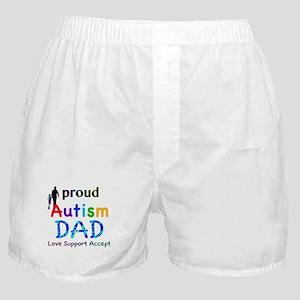Proud Autism Dad Boxer Shorts