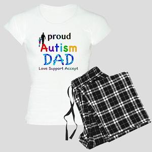 Proud Autism Dad Women's Light Pajamas