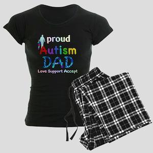 Proud Autism Dad Women's Dark Pajamas